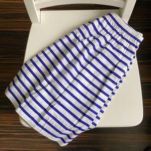EUC J. Crew Striped Skirt (0, royal blue & white)